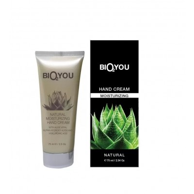 NATURAL MOISTURIZING HAND CREAM with aloe vera, alpha-hydroxy acids and hialuronic acid