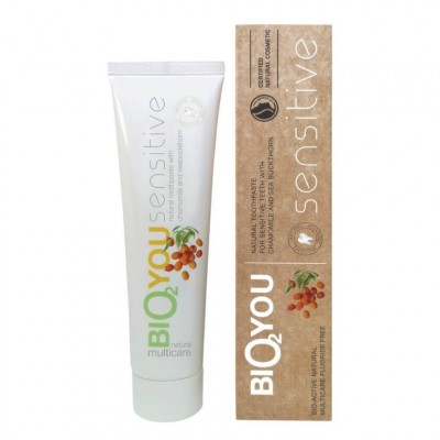 Natural toothpaste for Sensitive teeth  with chamomile, seabuchthorn and aloe vera
